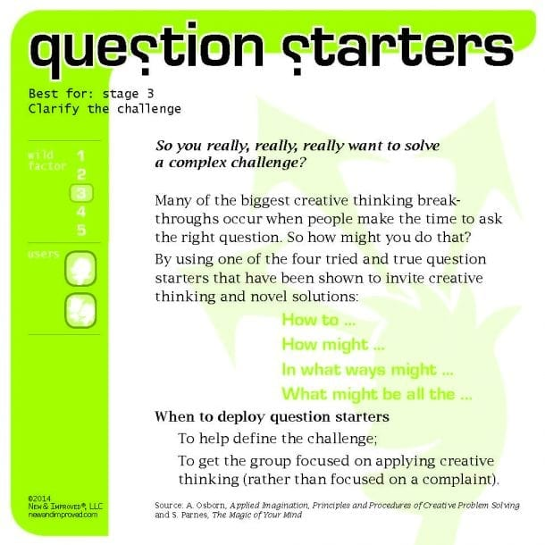 question starters tool questions to stimulate new thinking new